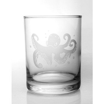 Octopus Double Old Fashioned Glass (set of 4)