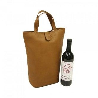 Piel Leather Double Wine Tote