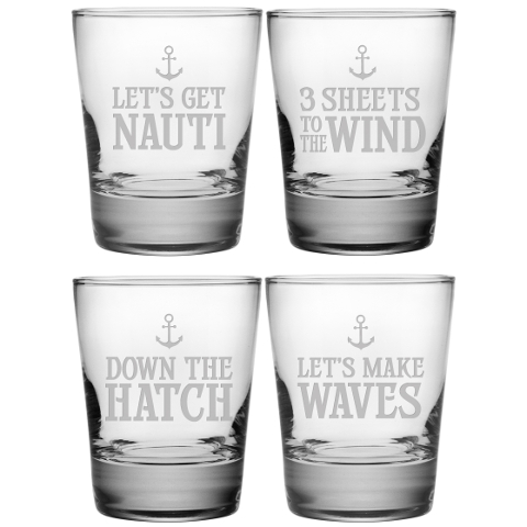 Down The Hatch DOF Glasses (set of 4)