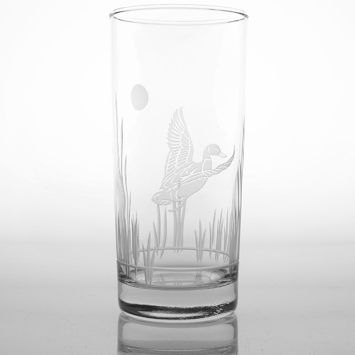 Etched Duck Highball Glasses (set of 4)