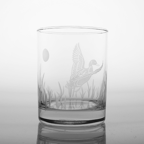 Etched Duck DOF Glasses (set of 4)