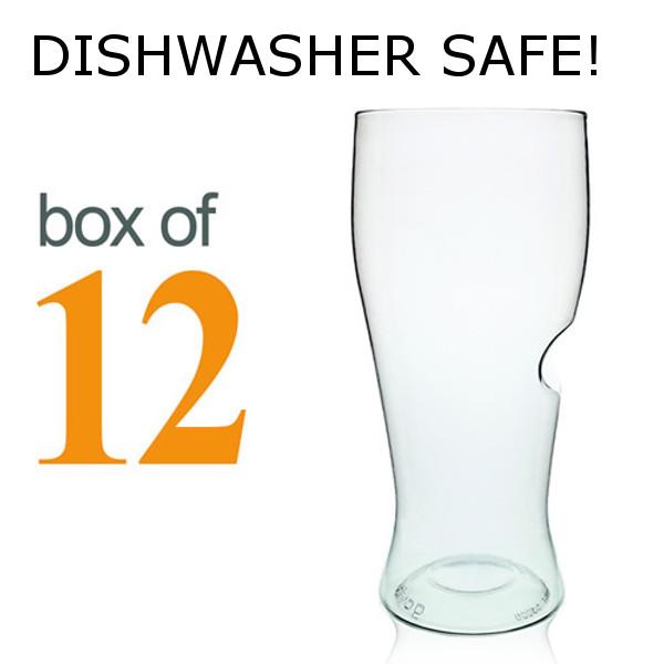GoVino Beer Glasses Dishwasher Safe (Set of 12)
