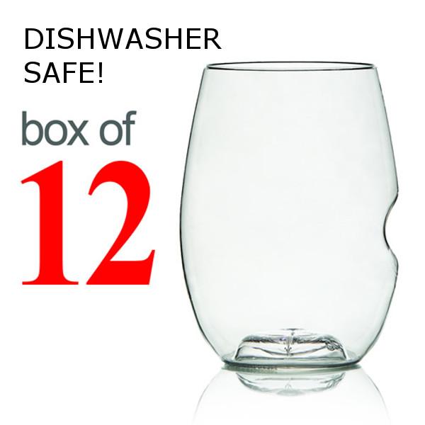 GoVino Red Wine Glasses Dishwasher Safe (Box of 12)