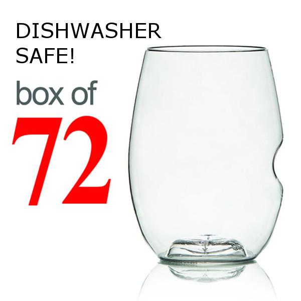 GoVino Red Wine Glasses Dishwasher Safe (Box of 72)