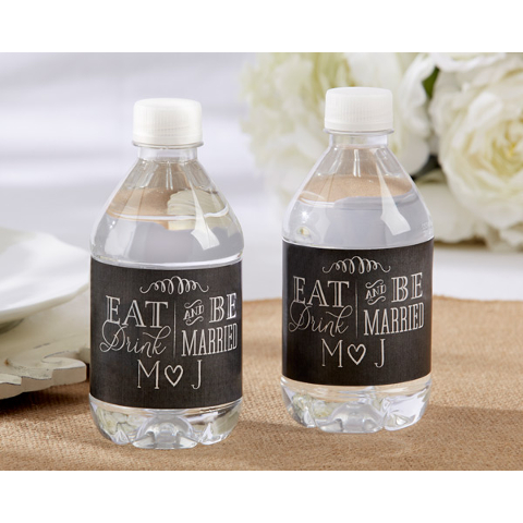 Personalized Wedding Water Bottle Labels (set of 24)