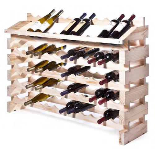 72 Bottle Modular Wine Rack System - Natural