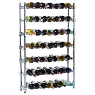 Epicurean 7 Row Wine Storage System Floor Wine Rack