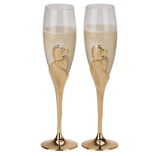 "Forever Gold Flutes, Pair 10.5"" H"