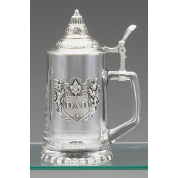 Vintage Glass Stein with Dad Emblem