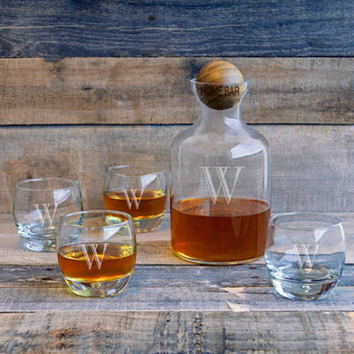 Personalized Decanter and Whiskey Glass Set