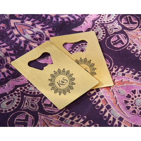 Henna Tattoo Personalized Credit Card Bottle Openers (set of 36)
