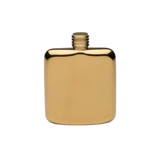Gold Plated Sleekline Pocket Flask, 4 oz.