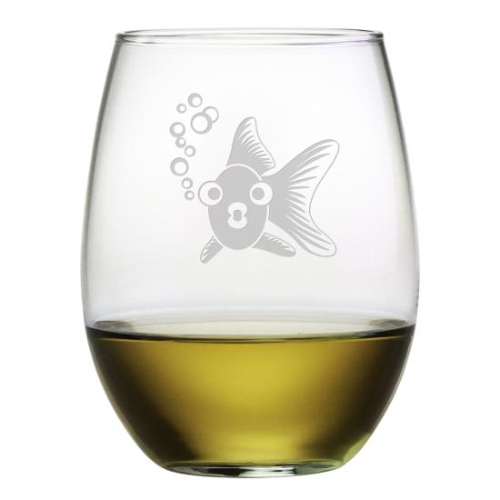 Goldie Stemless Wine Glasses (set of 4)