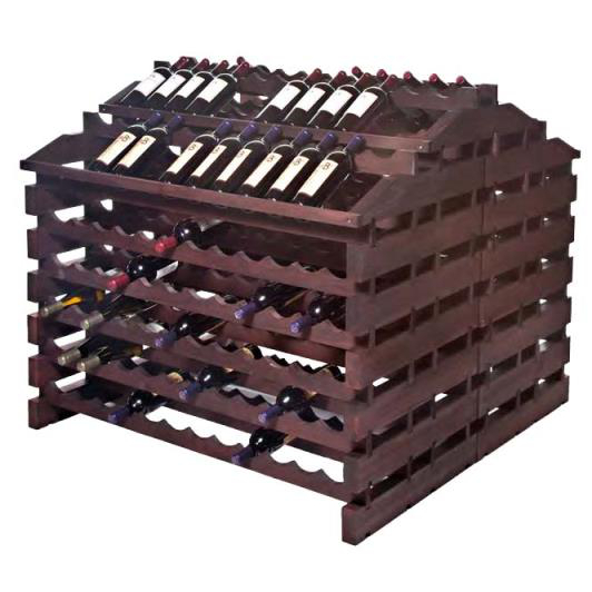 312 Bottle Wooden Modular Wine Storage System - Stained