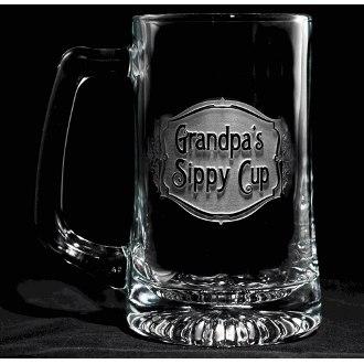 Engraved Grandpa's Sippy Cup Beer Mug