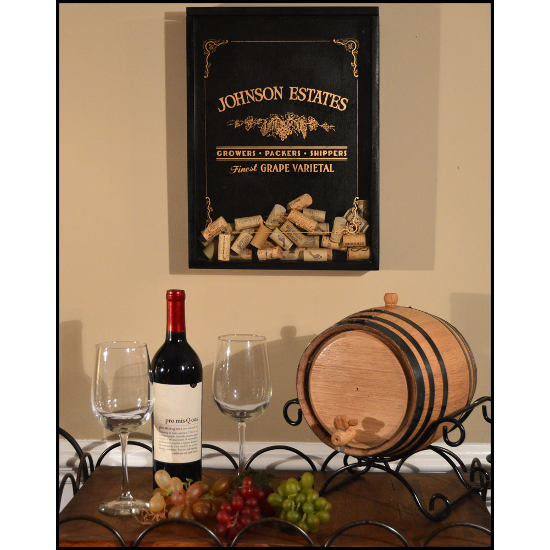 Personalized Grape Growers Cork Catcher Wall Art