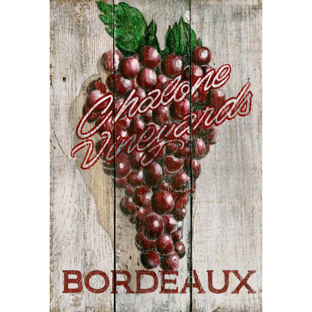 Personalized Grapes Wooden Wall Sign
