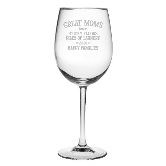 Great Moms Stemmed Wine Glasses (set of 4)