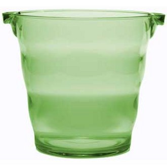 Green Plastic Party Bucket, 2 Bottle