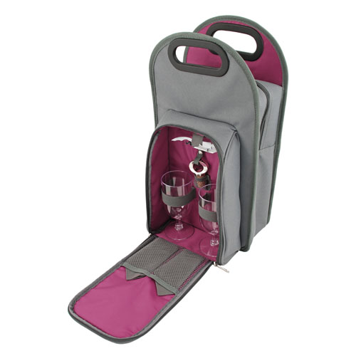 Grey Metropolitan 2-Bottle Wine Tote
