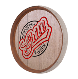Personalized Grill Barrel Sign
