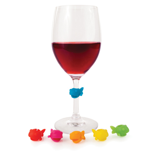 Colorful Fish Wine Glass Markers