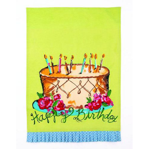 Happy Birthday Cake Towel By Julia Junkin