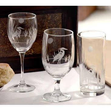 Heron Etched Glasses