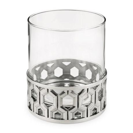 Hexagon Pewter Base Cocktail Tumbler