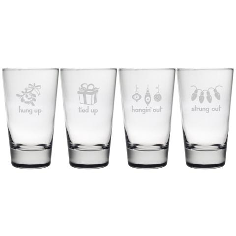Holiday Hang Ups Highball Glasses (set of 4)