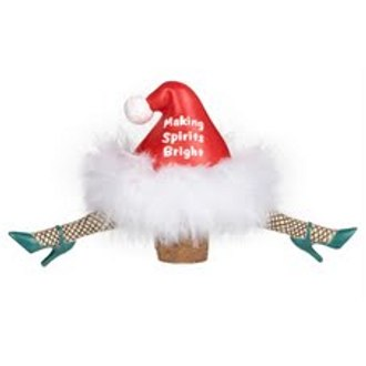Holiday Wiggle Bottle Stopper, Making Spirits Bright