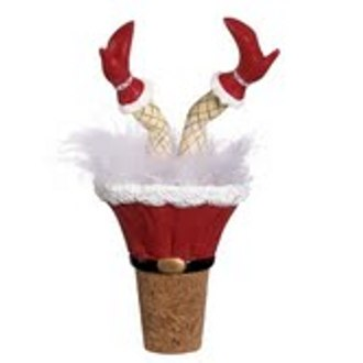 Holiday Wiggle Wine Bottle Stopper, Mrs. Claus