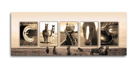 Equestrian Horse Letter Wall Art