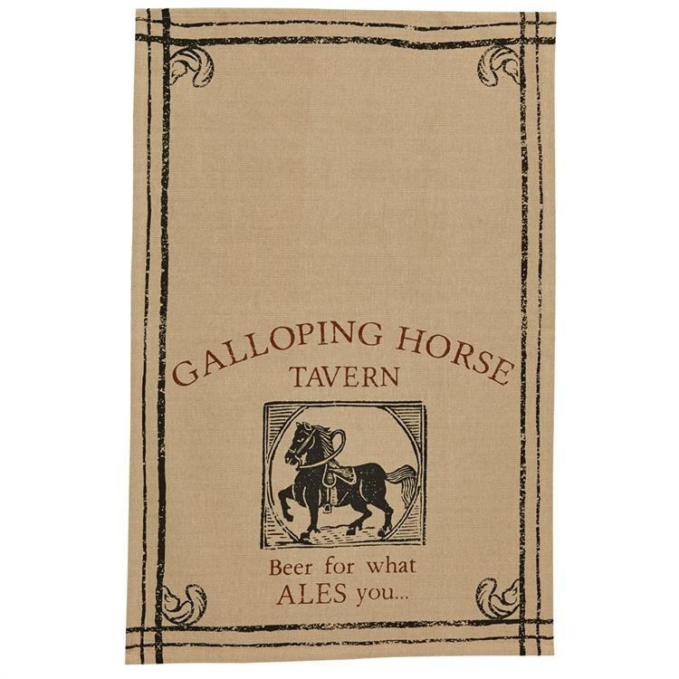 Galloping Horse Printed Dishtowel