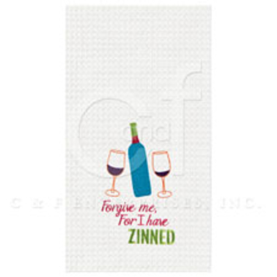 Forgive Me For I Have Zinned Wine Towel