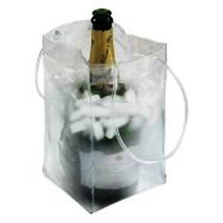 Ice Bag Collapsible Champagne Chiller w/ Full Color Company Logo (set of 72)