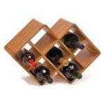 Greenophile Bamboo 8-Bottle Wine Rack