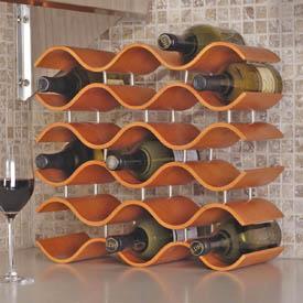 Bali Spiced Pumpkin 15 Bottle Wine Rack