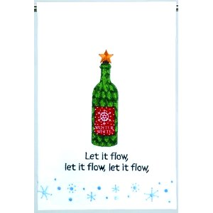 Let it Flow Holiday Towel