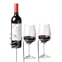 Picnic Wine Stakes Set for Bottle and Stemware