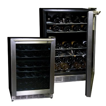 52 Bottle Stainless Steel Wine Refrigerator