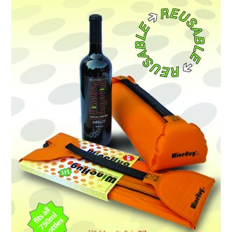 WineHug Self-Infalting Protective Travel Pouch