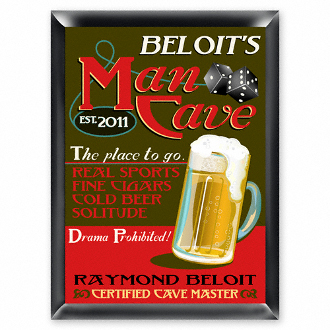 Man Cave Personalized Pub Sign