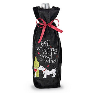 Tail Wagging... Dog Lover Wine Bottle Bag