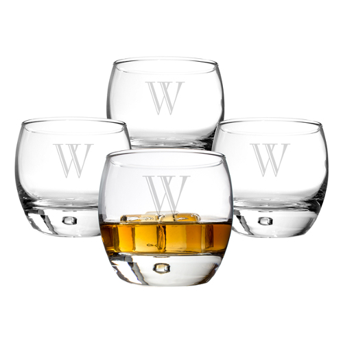 Personalized Heavy Base Engraved Whiskey Glass Set