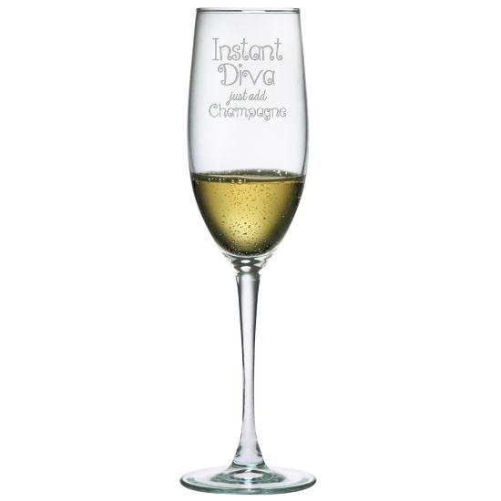 Instant Diva Champagne Glasses (set of 4)