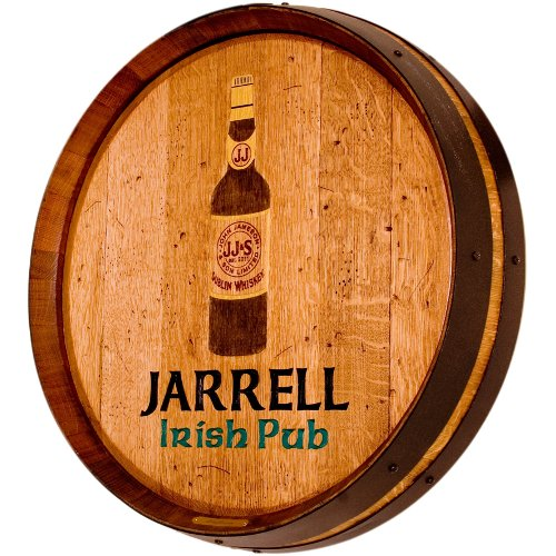 Custom Barrel Head Irish Pub Sign