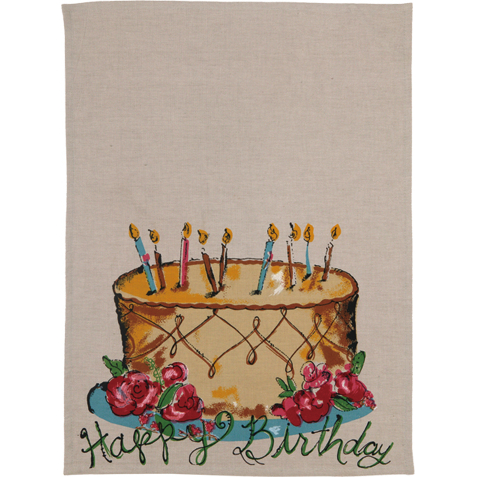 Happy Birthday Towel By Julia Junkin