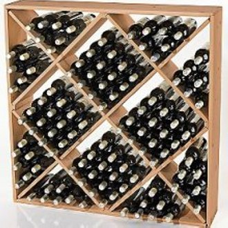 Jumbo Bin 120 Bottle Wine Rack Natural