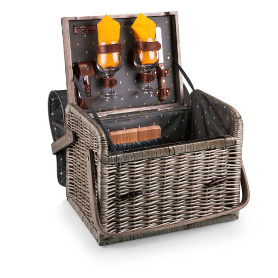 Kabrio Wine and Cheese Basket for Two